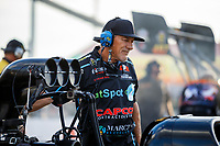 Sep 29, 2017; Madison , IL, USA; John Stewart crew chief for NHRA top fuel driver Scott Palmer during qualifying for the Midwest Nationals at Gateway Motorsports Park. Mandatory Credit: Mark J. Rebilas-USA TODAY Sports