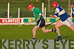 Lady's Walk Eddie Joy heading towards the St Brendan's goal with Francis Wallace of St Brendan's hot on his heels in the NK Intermediate Hurling Final at the Kilmoyley Hurling Club grounds on Monday night.    Copyright Kerry's Eye 2008