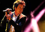 Train front man Patrick Monahan performs at Harveys Lake Tahoe Outdoor Arena at Stateline, Nev., on Friday, July 25, 2014. <br /> Photo by Cathleen Allison