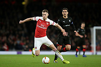 Aaron Ramsey of Arsenal in action during Arsenal vs Rennes, UEFA Europa League Football at the Emirates Stadium on 14th March 2019