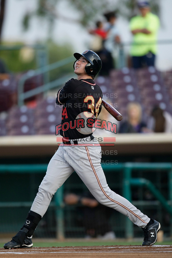 May 28 2009: Charlie Blackmon of the Modesto Nuts during game against the Inland Empire 66'ers at Arrowhead Credit Union Park in San Bernardino,CA.  Photo by Larry Goren/Four Seam Images