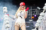 Maria Brink of In This Moment performs during the 2013 Rock On The Range festival at Columbus Crew Stadium in Columbus, Ohio.