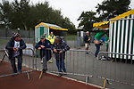 Guernsey 0 Corinthian-Casuals 1, 10/09/2017. Footes Lane, Isthmian League Division One. Home fans looking at the souvenir stand as Guernsey take on Corinthian-Casuals in a Isthmian League Division One South match at Footes Lane. Formed in 2011, Guernsey FC are a community club located in St. Peter Port on the island of Guernsey and were promoted to the Isthmian League Division One South in 2013. The visitors from Kingston upon Thames won the fixture by 1-0, watched by a crowd of 614 spectators. Photo by Colin McPherson.