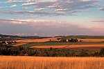 Farmland in Aroostook County, Maine, USA