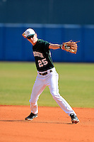 Dartmouth Big Green infielder Shane Ogren (25) during practice before a game against the Long Island Blackbirds at Chain of Lakes Stadium on March 17, 2013 in Winter Haven, Florida.  Dartmouth defeated UAB 11-4.  (Mike Janes/Four Seam Images)