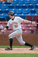 Designated hitter Matt Wieters (32) of the Frederick Keys follows through on his swing versus the Winston-Salem Warthogs at Ernie Shore Field in Winston-Salem, NC, Sunday, April 20, 2008.
