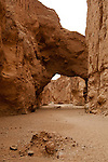 Natural Bridge carved out by water many years ago in Natural Bridge Canyon in Death Valley