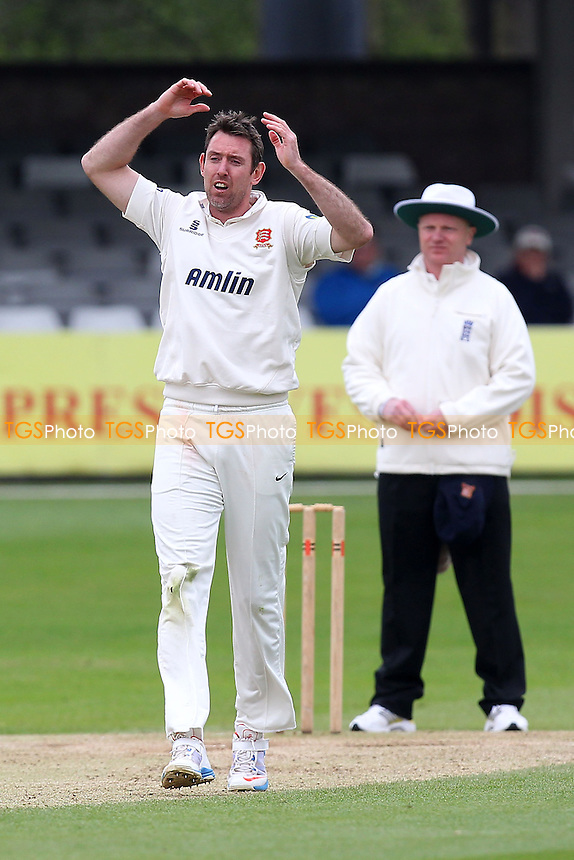 David Masters of Essex reacts as he goes close to a wicket - Essex CCC vs Kent CCC - Pre-Season Friendly Cricket Match at the Essex County Ground, Chelmsford - 04/04/14 - MANDATORY CREDIT: Gavin Ellis/TGSPHOTO - Self billing applies where appropriate - 0845 094 6026 - contact@tgsphoto.co.uk - NO UNPAID USE