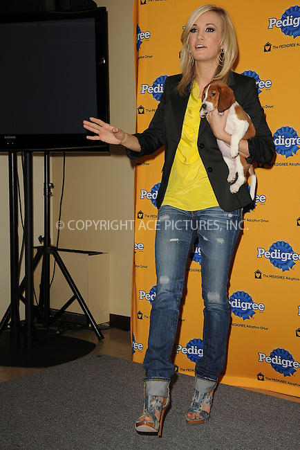WWW.ACEPIXS.COM . . . . . ....March 30 2010, New York City....Singer Carrie Underwood at the 6th Annual Pedigree Adoption Drive at Bidawee Manhattan Shelter on March 30, 2010 in New York City.....Please byline: KRISTIN CALLAHAN - ACEPIXS.COM.. . . . . . ..Ace Pictures, Inc:  ..tel: (212) 243 8787 or (646) 769 0430..e-mail: info@acepixs.com..web: http://www.acepixs.com