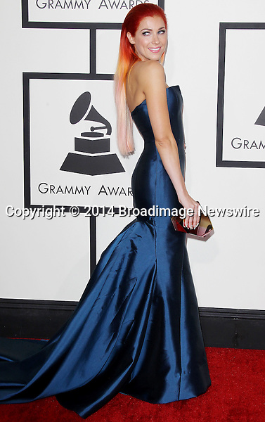 Pictured: Bonnie McKee<br /> Mandatory Credit &copy; Frederick Taylor/Broadimage<br /> 56th Annual Grammy Awards - Red Carpet<br /> <br /> 1/26/14, Los Angeles, California, United States of America<br /> <br /> Broadimage Newswire<br /> Los Angeles 1+  (310) 301-1027<br /> New York      1+  (646) 827-9134<br /> sales@broadimage.com<br /> http://www.broadimage.com