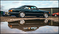 Bournemouth News (01202 558833)<br /> Pic: Brightwells/BNPS<br /> <br /> A classic Mercedes that belonged to motorsport icon and legendary playboy James Hunt has emerged for sale at auction.<br /> <br /> The 560SEC was owned by 'Hunt the Shunt' between 1988 and 1991 at a time of his life when he was incredibly short of money.<br /> <br /> As a result, the German coupe was gifted to him by an anonymous benefactor and he used it as his daily vehicle for three years.