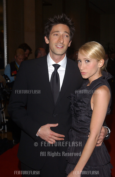 Actor ADRIEN BRODY & girlfriend at the 18th Annual American Cinematheque Gala honoring Nicole Kidman..November 14, 2003