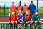 At the Over 35s Inter-Firm Soccer Tournament at John Mitchels sports complex were ralee Garde  Front l-r Joe Ryan, Tom Moynihan, James Elard, John Daly Back l-r Evan McNamara, Jason Gibbons, Sean Gannon Tom Sugrue