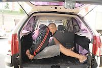 SAO BERNARDO DO CAMPO, SP, 04 de junho 2013- Preso Jose Humberto de Sena 40 anos acusado de matar Maria do Carmo da Silva 62 anos durante um assalto a uma loterica em Sao Bernardo do Campo  - FOTO:ADRIANO LIMA / BRAZIL PHOTO PRESS).
