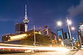 NEW ZEALAND, Auckland, Sky Tower Above Queen Street in Auckland, Ben M Thomas
