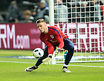 England's Jack Butland warms up during the International Friendly match at Olympiastadion.  Photo credit should read: David Klein/Sportimage