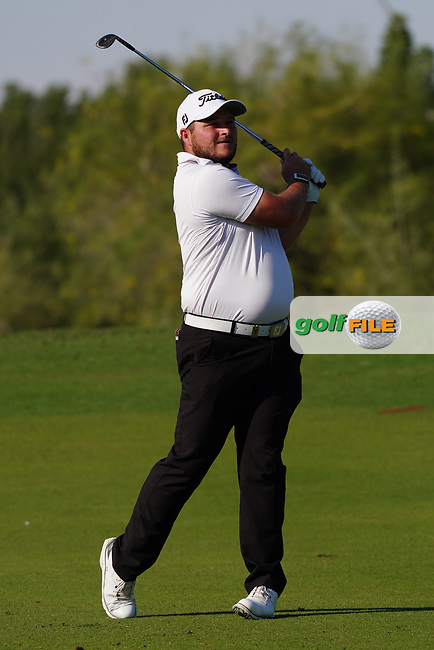 Zander Lombard (RSA) on the 16th during Round 1 of the Commercial Bank Qatar Masters 2020 at the Education City Golf Club, Doha, Qatar . 05/03/2020<br /> Picture: Golffile | Thos Caffrey<br /> <br /> <br /> All photo usage must carry mandatory copyright credit (© Golffile | Thos Caffrey)