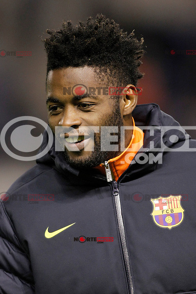 FC Barcelona's Alex Song during Spanish King's Cup match.October 30,2012. (ALTERPHOTOS/Acero) /NortePhoto .<br /> ©NortePhoto