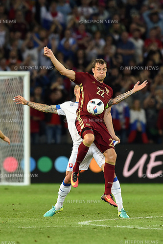Artem Dzyuba (Russia) ; <br /> June 15, 2016 - Football : Uefa Euro France 2016, Group B, Russia 1-2 Slovakia at Stade Pierre Mauroy, Lille Metropole, France. (Photo by aicfoto/AFLO)