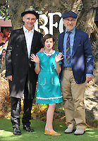 Mark Rylance, Ruby Barnhill &amp; Steven Spielberg at the &quot;The BFG&quot; UK film premiere, Odeon Leicester Square cinema, Leicester Square, London, England, UK, on Sunday 17 July 2016.<br /> CAP/CAN<br /> &copy;CAN/Capital Pictures /MediaPunch ***NORTH AND SOUTH AMERICAS ONLY***
