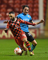 Fleetwood Town's Markus Schwabl battles with Walsall's Erhun Oztumer<br /> <br /> Photographer Dave Howarth/CameraSport<br /> <br /> The EFL Sky Bet League One - Walsall v Fleetwood Town - Tuesday 14th March 2017 - Banks's Stadium - Walsall<br /> <br /> World Copyright &copy; 2017 CameraSport. All rights reserved. 43 Linden Ave. Countesthorpe. Leicester. England. LE8 5PG - Tel: +44 (0) 116 277 4147 - admin@camerasport.com - www.camerasport.com