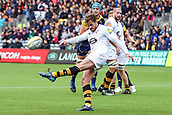 10th September 2017, Sixways Stadium, Worcester, England; Aviva Premiership Rugby, Worcester Warriors versus Wasps; Danny Cipriani of Wasps clears the ball from defence
