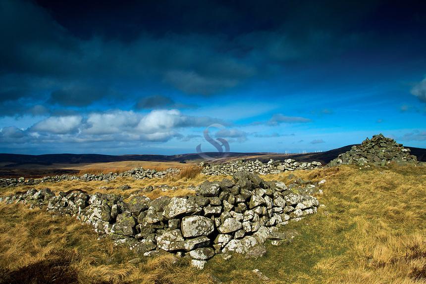 The summit of Priestlaw Hill, the Lammermuir Hills, East Lothian