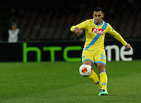 Faouzi Ghoulan  <br /> <br />  UEFA Europa League round of 32 second  leg match, betweenAC  Napoli  and Swansea City   at San Paolo stadium in Naples, Feburary 27 , 2014