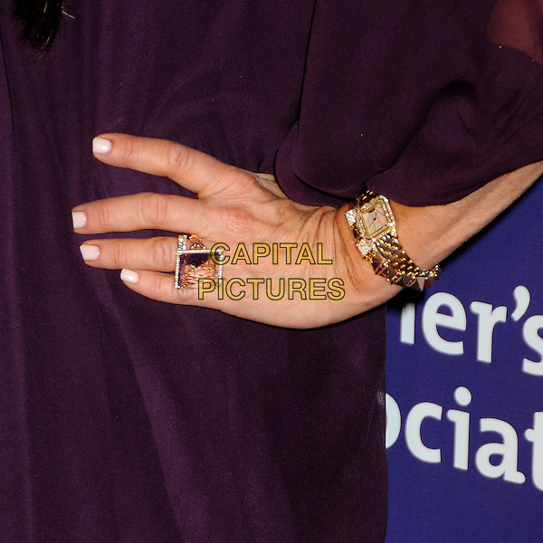 "KYLE RICHARDS' HAND .19th Annual ""A Night at Sardi's"" Benefiting the Alzheimer's Association held at the Beverly Hilton Hotel, Beverly Hills, California, USA, 16th March 2011..detail ring gold wrist watch jewelry jewellery .CAP/ADM/BP.©Byron Purvis/AdMedia/Capital Pictures."