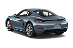 Car pictures of rear three quarter view of a 2017 Porsche 718 Cayman S 3 Door Coupe angular rear