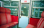 Seats in a train. London