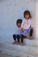 Local twins from the Traditional Village of Sopsokha, Punakha District, Bhutan