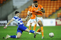 Blackpool's Curtis Tilt is tackled by Reading's Lucas Boye<br /> <br /> Photographer Kevin Barnes/CameraSport<br /> <br /> Emirates FA Cup Third Round Replay - Blackpool v Reading - Tuesday 14th January 2020 - Bloomfield Road - Blackpool<br />  <br /> World Copyright © 2020 CameraSport. All rights reserved. 43 Linden Ave. Countesthorpe. Leicester. England. LE8 5PG - Tel: +44 (0) 116 277 4147 - admin@camerasport.com - www.camerasport.com