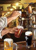 Marcello, MASCULIN, MÄNNLICH, MASCULINO, paintings+++++,ITMCEDM1052B,#M# ,beer,pub,tavern,saloon ,everyday