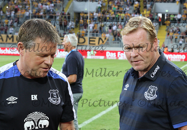 Everton Manager Ronald Koeman (right) with his brother Assistant Manager Erwin Koeman before the Dynamo Dresden v Everton match in the Bundeswehr Karriere Cup Dresden 2016 played at the DDV Stadion, Dresden on 29.7.16.