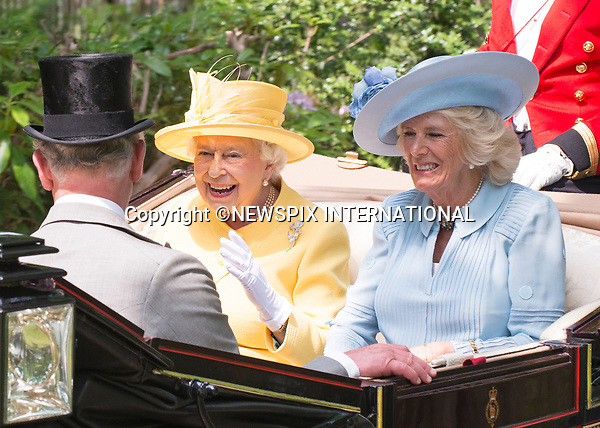 21.06.2017; Ascot, UK: QUEEN ELIZABETH AND CAMILLA, DUCHESS OR CORNWALL<br />