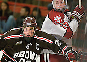 Dennis Robertson (Brown - 20), Jimmy Vesey (Harvard - 19) - The Harvard University Crimson defeated the visiting Brown University Bears 3-2 on Friday, November 2, 2012, at the Bright Hockey Center in Boston, Massachusetts.