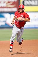 Joseph Hage (23) of the Johnson City Cardinals heads towards third base at Dan Daniels Park in Danville, VA, Sunday July 27, 2008.