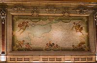 Europe/France/Nord-Pas-de-Calais/59/Nord/Lille: La grand Place - Chambre de Commerce et d'Industrie de Style Néo-Flamand- Architecte Louis Cordonnier- Carte murale représentant le Nord de la France