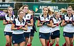 HUIZEN  -   Kaya Lucker (HUI) , hoofdklasse competitiewedstrijd hockey dames, Huizen-Groningen (1-1)   COPYRIGHT  KOEN SUYK