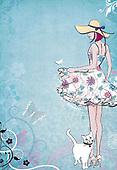 Sharon, TEENAGERS, JUGENDLICHE, JÓVENES, paintings+++++,GBSSC50FF11A,#J#, EVERYDAY ,female ,birthday