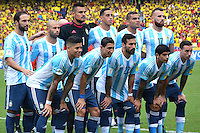 BARRANQUILLA - COLOMBIA - 17-11-2015: Jugadores de Argentina posan para una foto previo al encuentro entre Colombia y Argentina válido por la clasificación a la Copa Mundo FIFA 2018 Rusia jugado en el estadio Metropolitano Roberto Melendez en Barranquilla./  Players of Argentina pose to a photo prior  the match between Colombia and Argentina valid for the 2018 FIFA World Cup Russia Qualifiers played at Metropolitan stadium Roberto Melendez in Barranquilla. Photo: VizzorImage / Alfonso Cervantes / Str