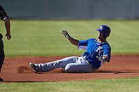 Kansas City Royals Cheslor Cuthbert (19) during an instructional league game against the San Francisco Giants on October 22, 2015 at the Giants Baseball Complex in Scottsdale, Arizona.  (Mike Janes/Four Seam Images)