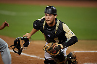 UCF Knights catcher Josh Crouch (44) during a game against the Siena Saints on February 14, 2020 at John Euliano Park in Orlando, Florida.  UCF defeated Siena 2-1.  (Mike Janes/Four Seam Images)