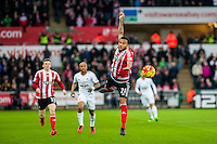 Ryan Bertrand of Southampton  in action during the Barclays Premier League match between Swansea City and Southampton  played at the Liberty Stadium, Swansea  on February 13th 2016