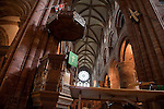 Pulpit in Kirkwall Cathedral in Orkney Islands, Scotland