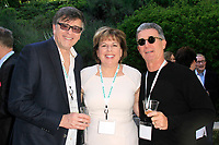 LOS ANGELES - APR 9: Michael Kichaven, Ilyanne Morden Kichaven, Charles Isaacs at The Actors Fund's Edwin Forrest Day Party and to commemorate Shakespeare's 453rd birthday at a private residence on April 9, 2017 in Los Angeles, California