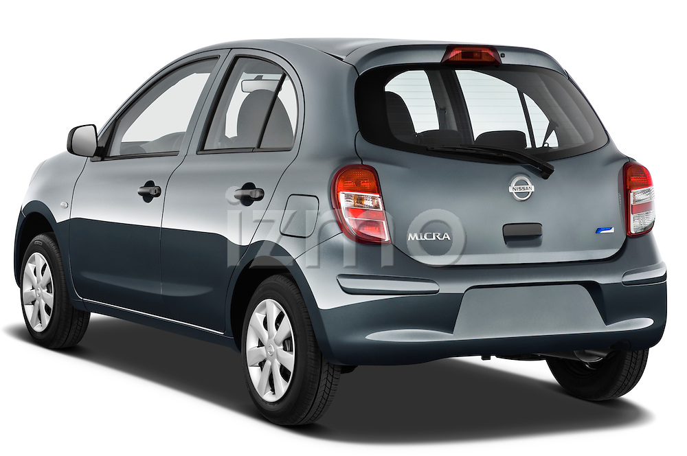 Rear three quarter view of a 2011 Nissan Micra Visia 5 Door Micro Car