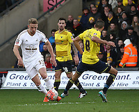 Stephen Kingsley of Swansea  during the Emirates FA Cup 3rd Round between Oxford United v Swansea     played at Kassam Stadium  on 10th January 2016 in Oxford