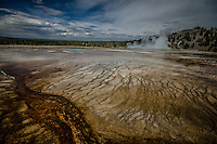 Grand Prismatic Spring. Great use of the wide angle. Love the leading lines!